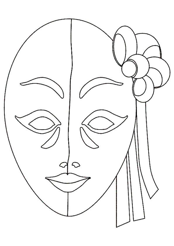 Coloriage Masque Pour Carnaval De Venise Dessin Gratuit A Imprimer