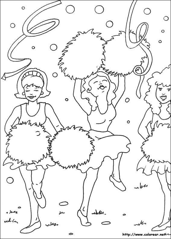 Coloriage et dessins gratuits Supporteurs pour Filles à imprimer