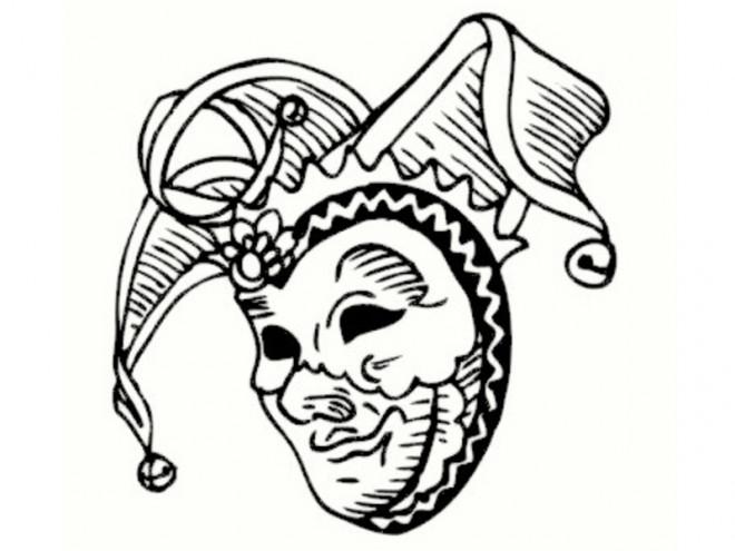 Coloriage et dessins gratuits Un Masque de Carnaval vecteur à imprimer