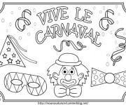 Coloriage et dessins gratuit Vive le Carnaval à imprimer