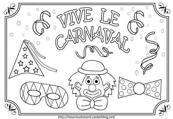 Coloriage et dessins gratuits Vive le Carnaval à imprimer