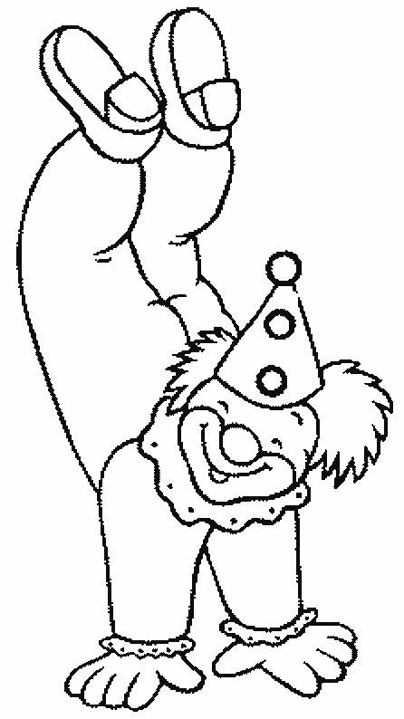 Coloriage et dessins gratuits Clown acrobate à imprimer