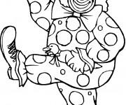 Coloriage Clown qui danse