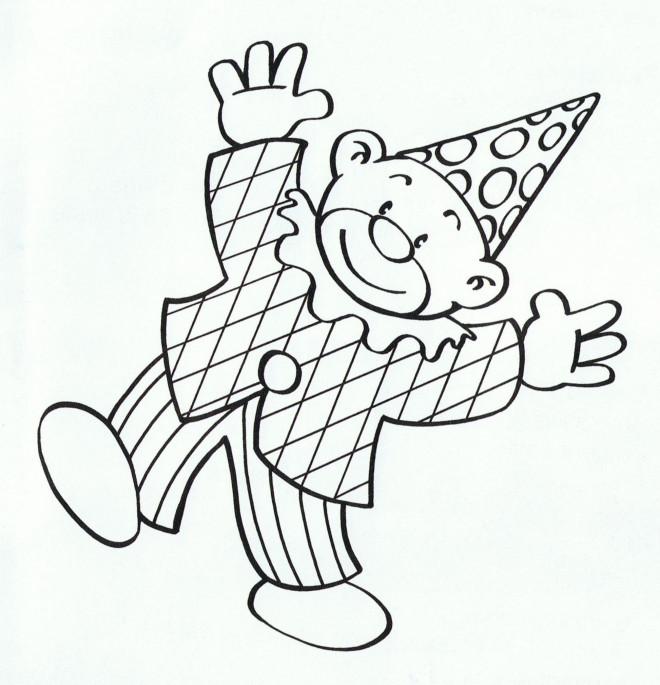 Coloriage et dessins gratuits Clown sourit à imprimer