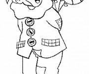 Coloriage Clown stylisé