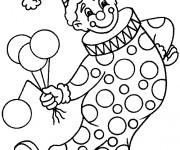 Coloriage dessin  Clowns 6