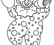 Coloriage et dessins gratuit Le clown musicien à imprimer