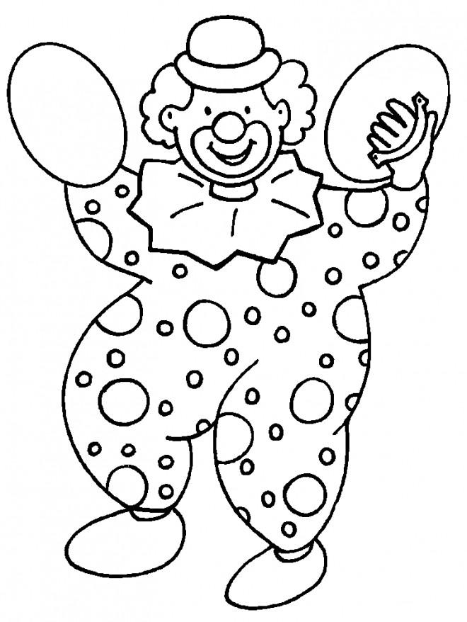 Coloriage et dessins gratuits Le clown musicien à imprimer