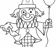Coloriage Un ballon dans la main de clown