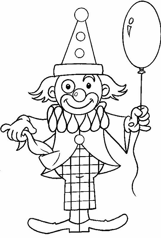 Coloriage Clown Adulte.Coloriage Un Ballon Dans La Main De Clown Dessin Gratuit A