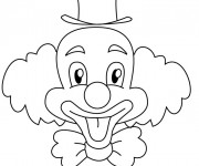 Coloriage Un clown drôle