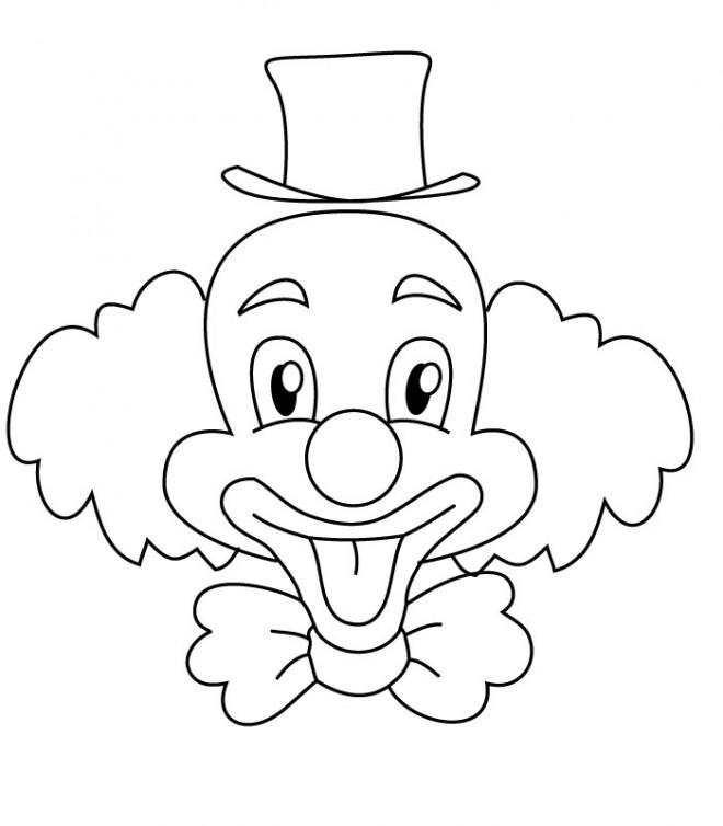 Coloriage Clown Drole.Coloriage Un Clown Drole Dessin Gratuit A Imprimer