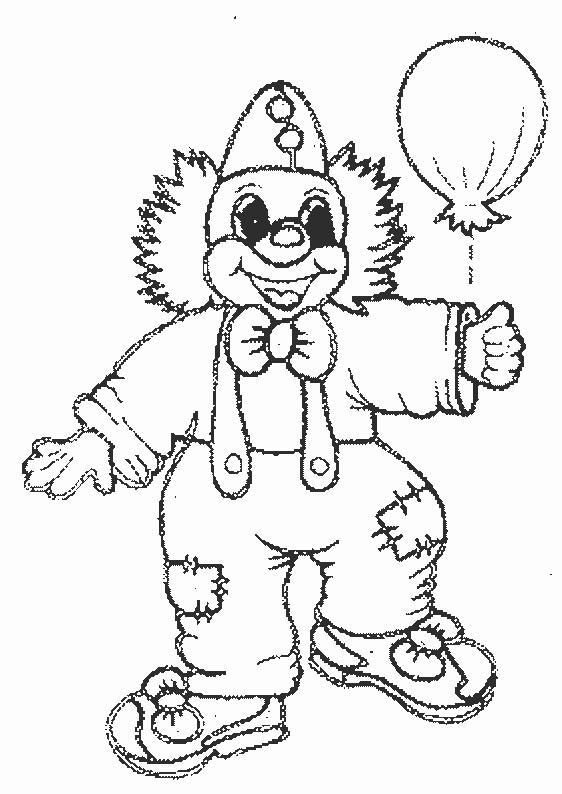 Coloriage et dessins gratuits Un clown et  Un ballon à imprimer
