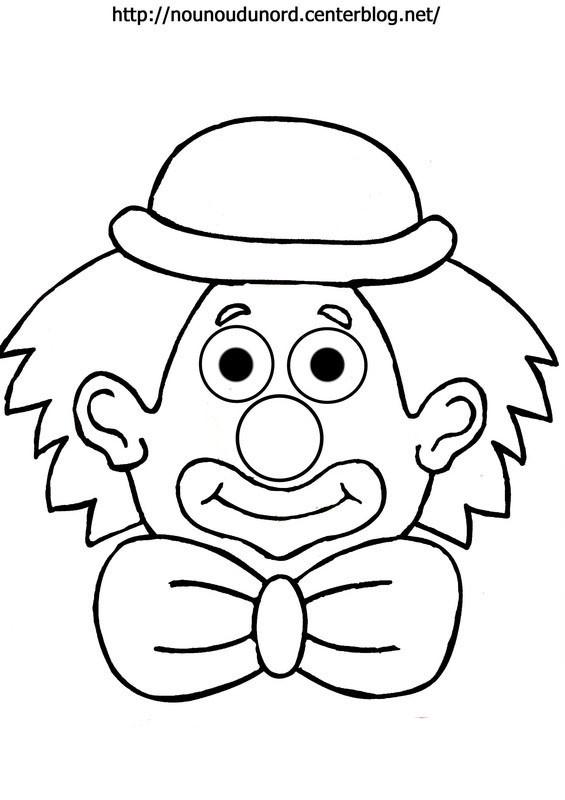 Coloriage Clown Adulte.Coloriage Un Clown Porte Un Noeud Dessin Gratuit A Imprimer