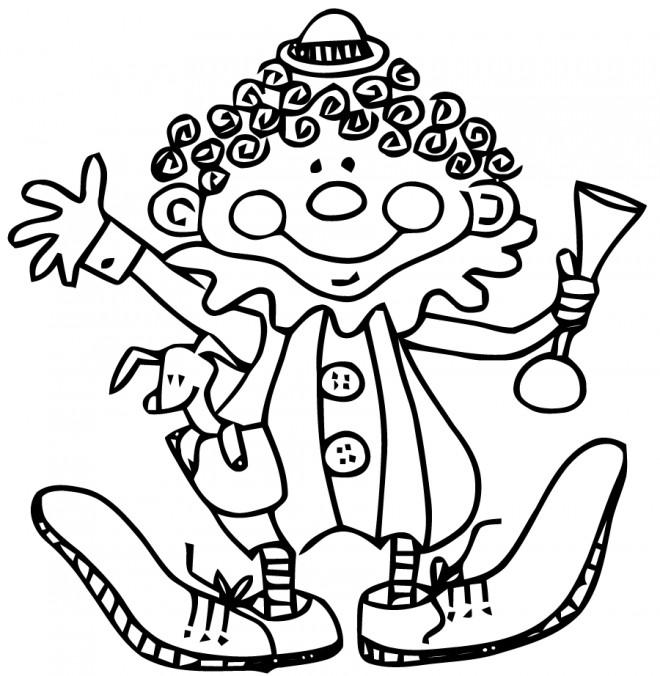 Coloriage et dessins gratuits Un Clown qui fait rire à imprimer