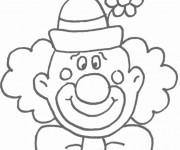 Coloriage Un clown rigolo