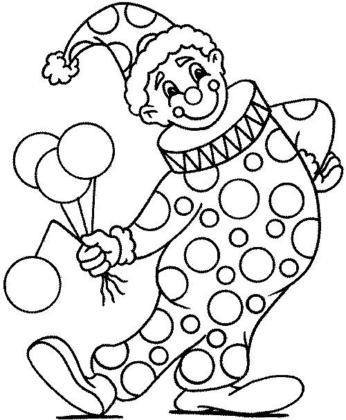 Coloriage Clowns gratuit à imprimer