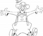 Coloriage et dessins gratuit Un clown tout drôle à imprimer