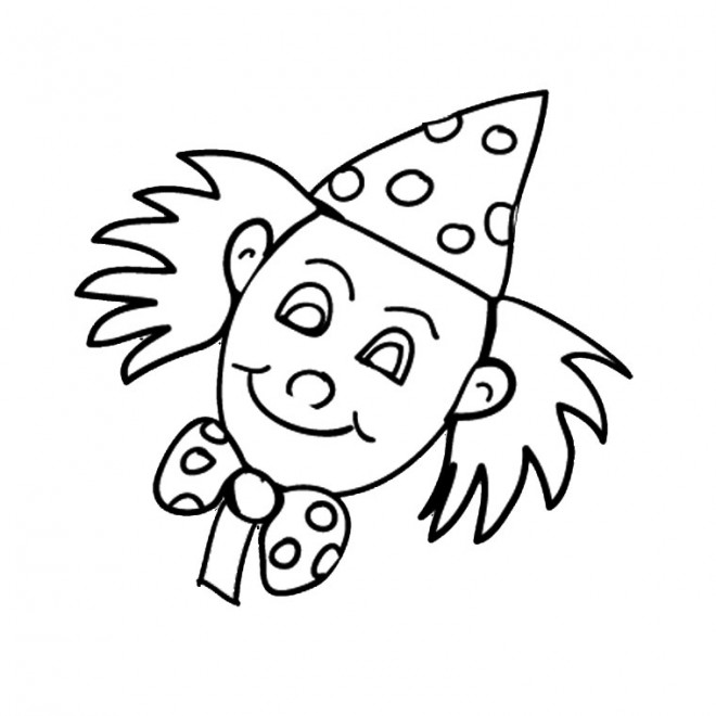 Coloriage Une Tête De Clown Dessin Gratuit à Imprimer