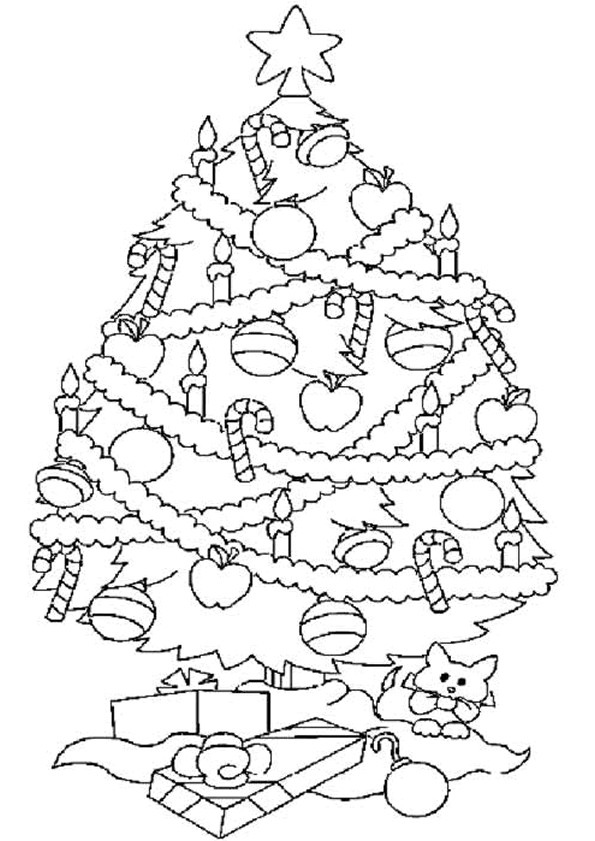 Coloriage Dessin Sapin De Noël Dessin Gratuit à Imprimer