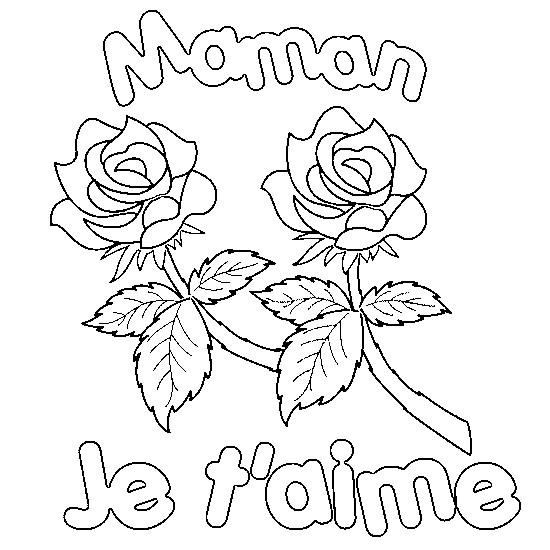 Coloriage et dessins gratuits Fête de nos Mères couleur à imprimer