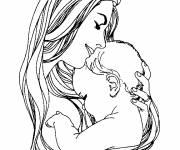 Coloriage ah l'amour maternelle
