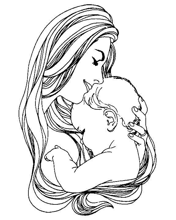 Coloriage et dessins gratuits ah l'amour maternelle à imprimer