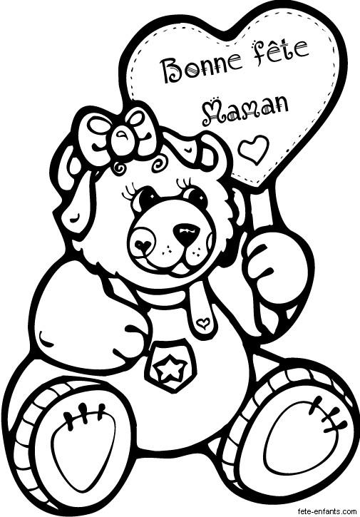 Coloriage et dessins gratuits Cadeau pour Maman à imprimer