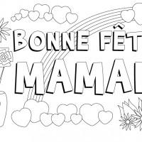 Coloriage et dessins gratuit Carte de vœux pour fête des Mères à imprimer
