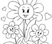 Coloriage et dessins gratuit Des fleurs magnifiques pour Maman à imprimer
