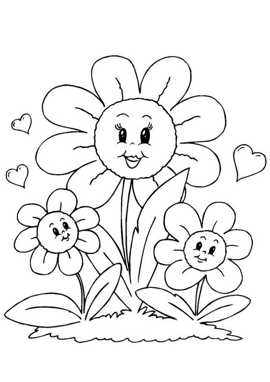 Coloriage et dessins gratuits Des fleurs magnifiques pour Maman à imprimer