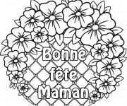 Coloriage et dessins gratuit Des Fleurs pour Fête des Mères à imprimer
