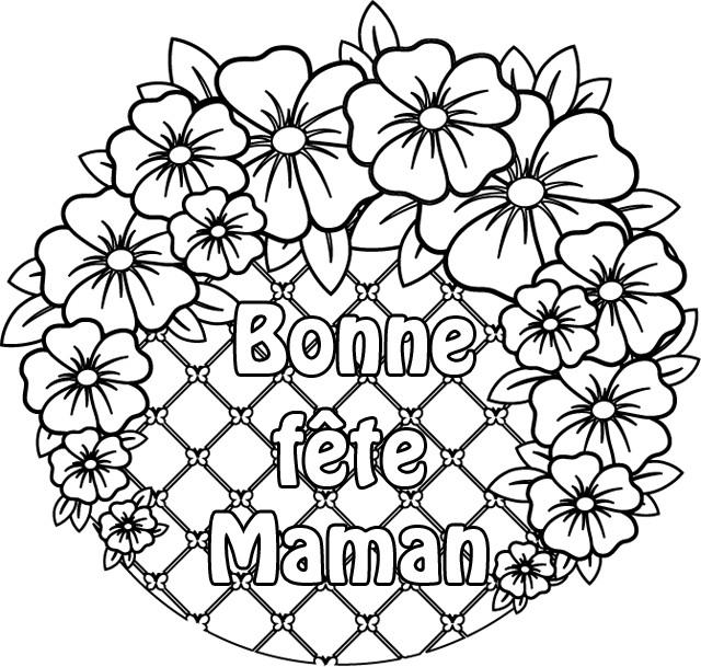 Coloriage et dessins gratuits Des Fleurs pour Fête des Mères à imprimer