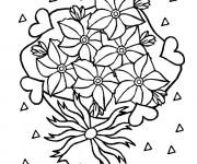 Coloriage Des Fleurs ravissantes pour Maman
