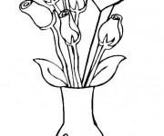 Coloriage et dessins gratuit Des Roses pour célébrer la Fête des Mamans à imprimer