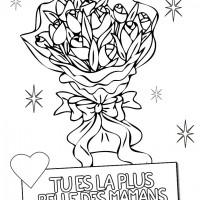 Coloriage et dessins gratuit Fête des Mères en couleur à imprimer