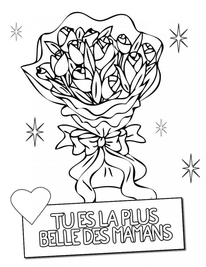 Coloriage et dessins gratuits Fête des Mères en couleur à imprimer
