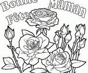 Coloriage et dessins gratuit Fête des Mères en ligne à imprimer
