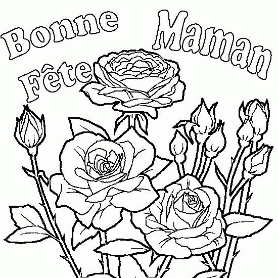 Coloriage f te des m res en ligne dessin gratuit imprimer - Dessin bonne fete maman ...