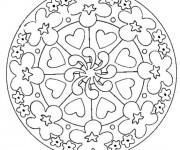 Coloriage et dessins gratuit Fête des Mères mandala à imprimer