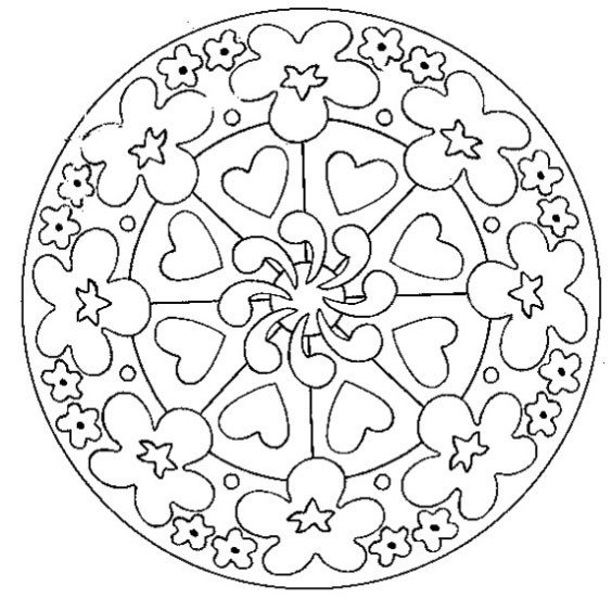 Coloriage et dessins gratuits Fête des Mères mandala à imprimer