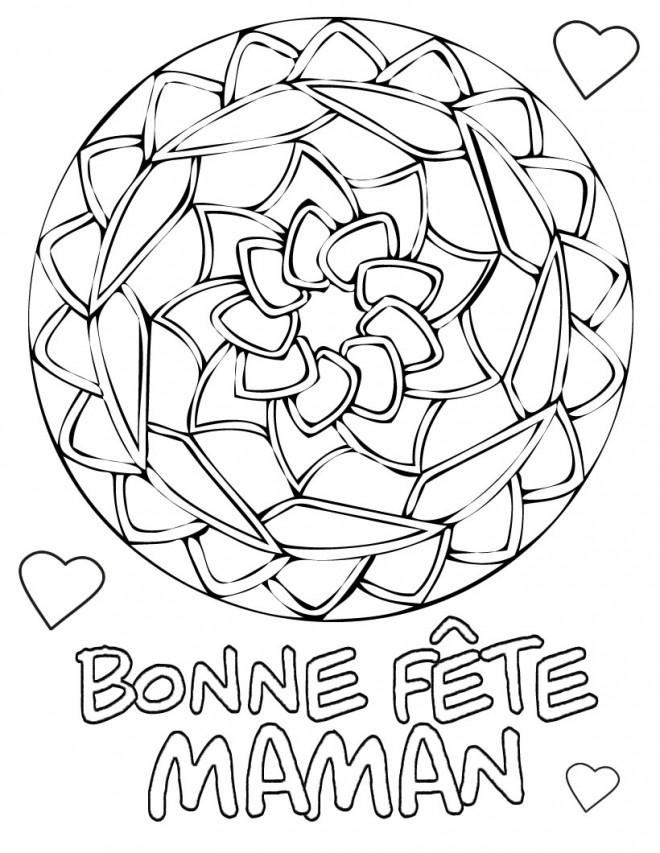Coloriage f te des m res maternelle dessin gratuit imprimer - Coloriage de fete des mere ...