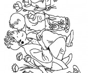 Coloriage Fête des Mères stylisé