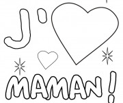 Coloriage Je t'aime Maman