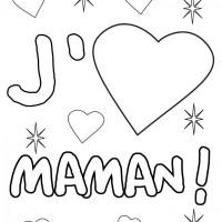 Coloriage et dessins gratuit Je t'aime Maman à imprimer