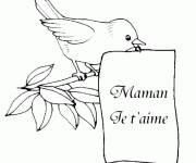 Coloriage et dessins gratuit Lettre Maman je t'aime à imprimer