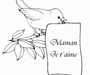 Coloriage et dessins gratuit Lettre pour Fête des Mères à imprimer