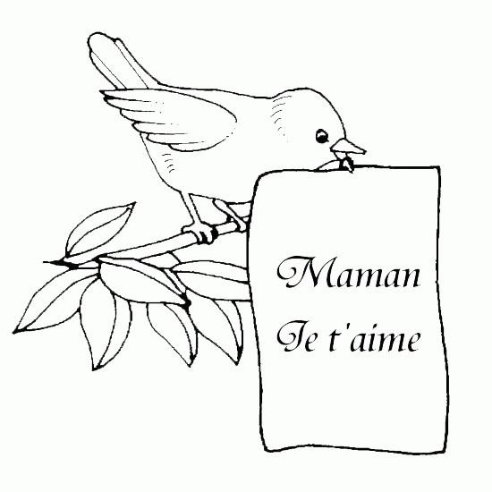 Coloriage et dessins gratuits Lettre pour Fête des Mères à imprimer