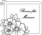 Coloriage Lettre pour Fête des Mères