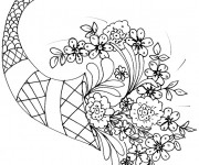 Coloriage Un beau bouquet de fleurs pour la Mère